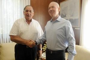 גלנט ויהב. מדברים על פיתוח. צילום: עיריית חיפה