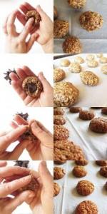 עוגיות גרנולה שלבי ההכנה צילום: ניסים בן כהן