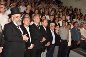 מאות תושבים הגיעו לטקס יום השואה והגבורה. צילם: רפי עשור