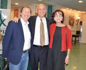 מרי ודר אמנון רופא עם ישראל סביון. צילום- שרה איקו