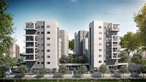 """תקים החברה פרויקט חדש שיכלול 44 יחידות דיור בנות 4-5 חדרים בנוסף לדירות גן ופנטהאוזים במפלס אחד, ב-4 בניינים בשכונת הרקפות בקריית ביאליק.צילום יח""""צ"""