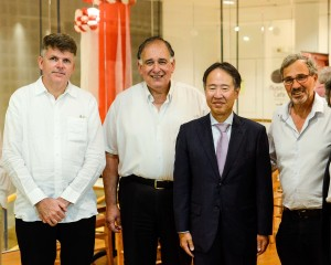 במוזיאון טיקוטין. יונה יהב שגריר יפן נסים טל וקילט דואיטס. אלבום פרטי