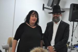 הרב דוד אבוחצירה ותמי ברק. צילום: איציק גולדשטיין