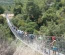 סוגרים מחשש להצתות בגשרים התלויים. צילום: אייל לרמן