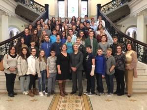 """בתמונה: משלחת חטיבת הנעורים ליאו באק בבוסטון. """"חזרנו ארצה עם תחושה חזקה של עוצמה ואמונה בסולידריות היהודית, אהבה ואופטימיות"""""""