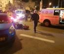 """זירת התאונה הקטלנית בשדרות בן גוריון בקרית מוצקין. צילום: דוברות מד""""א כרמל"""
