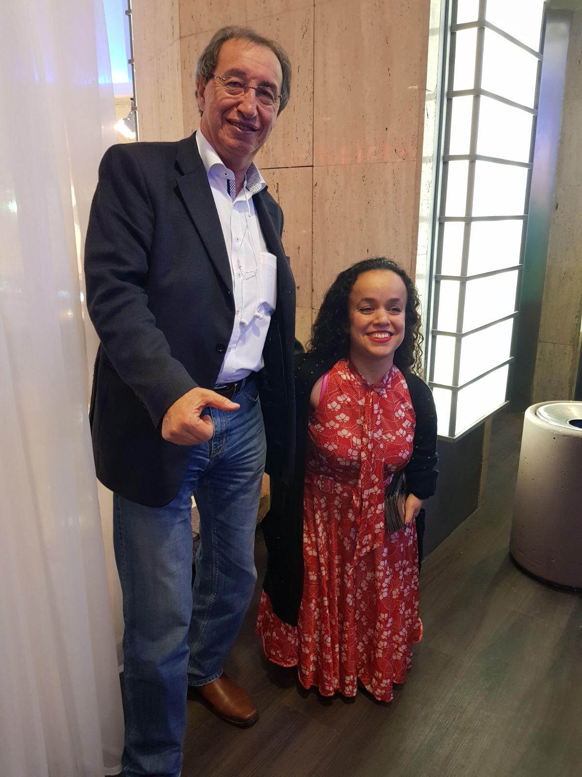 בת אל פאפורה וישראל סביון בהרצאה המרתקת. תמונה: יחסי ציבור