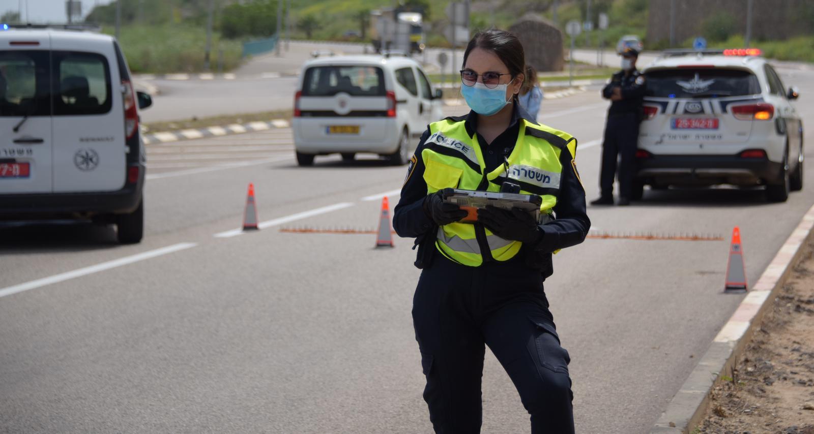 משטרת ישראל אוכפת את ההוראות. אילוסטרציה. צילום: דוברות המשטרה
