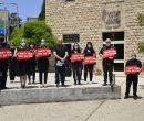 המחאה במוזיאוני חיפה הבוקר. תמונה: אלבום פרטי