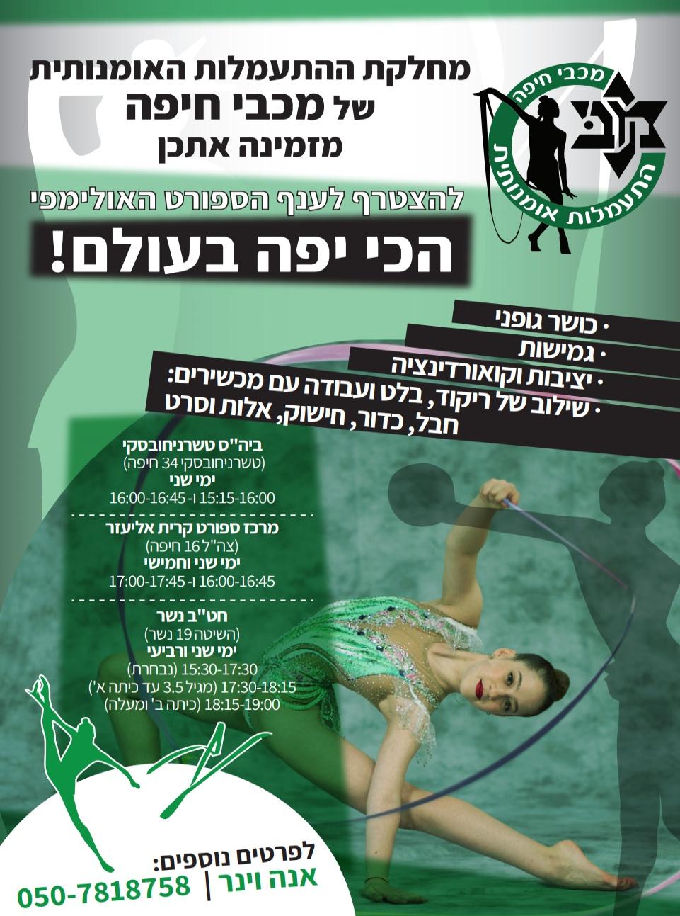 תמונה: אגודת מכבי חיפה כרמל