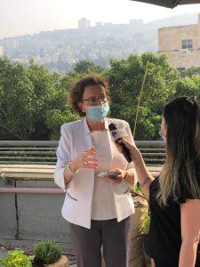 ראש העיר עינת קליש בראיון לניוז חיפה קריות. תמונה: ניוז חיפה קריות