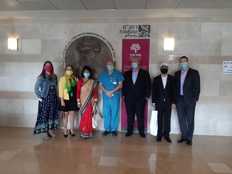 """ביקור שגרירת נפאל ברמב""""ם. תמונה: דוברות הקריה הרפואית רמב""""ם"""