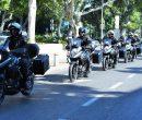 יחידת האופנועים של עיריית חיפה. צילום: דוברות העירייה